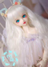 [STOCK]white long curl wig ONLY M7 for BJD MSD 1/4 girl doll use 7-8' size #6