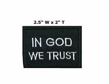 In God We Trust Embroidered Patch Iron Sew-On Christian Biker Jesus Bible Motif