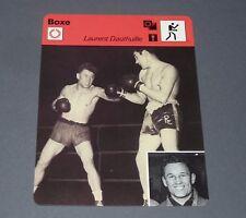 FICHE BOXE BOXING LAURENT DAUTHUILLE POIDS MOYEN FRANCE 1946