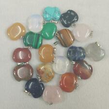 Fashion Natural apple  Gemstone stone Silver  Beads Pendant 10pcs/lot Wholesale