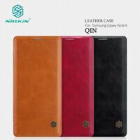For Samsung Galaxy S20 Note 9 10+ Genuine NILLKIN Leather Wallet Flip Case Cover