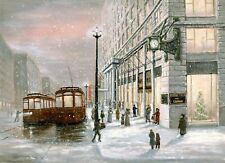 Marshall Fields,A Bygone Era(Litho),Jim Williams Artist,State Street,Chicago