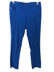 """Premise pants size L large blue stretch waist band 29"""" inseam pull on pockets"""