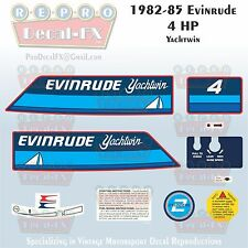 1982-85 Evinrude 4 HP Yachtwin Outboard Repro 10 Piece Marine Vinyl Decals