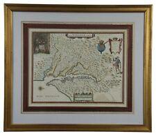 1660s Historic Reproduction Map Virginia Nova Tabula Virginiae Blaeu Chesapeake