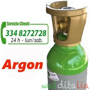 BOMBOLA ARGON 14 LITRI RICARICABILE  200 BAR  PUREZZA 99,9% CARICA