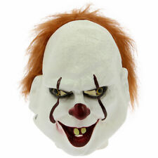 Halloween Cosplay Fancy Costume Real Life Stephen King IT Mask Clown Pennywise