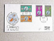 06] BAILIWICK OF GUERNSEY - CHRISTMAS 1975 - FIRST DAY COVER - POSTED 7 OCT 1975