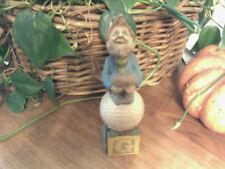 Cairn Studio Tom Clark Gnome ~ Alphabet ~G ~ Golf C.O.A. Christmas! Rare Color!