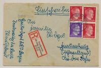 LM77404 Germany 1944 Reich registered cover with nice cancels used