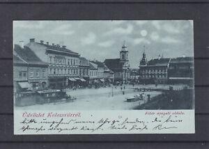Mondscheinkarte Gruß aus Koloszvarrol Ungarn gelaufen 1898 nach Laibach
