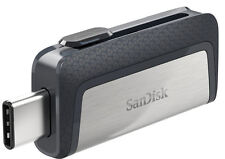 Type C SanDisk 256GB Dual USB 3.1 Flash Drive Thumb Memory Stick MacBook 150MB/s