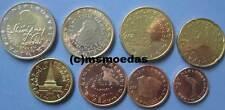 La Slovenia KMS 8 monete metalliche in euro 2017 con 1 cent - 2 Euro Slovenia monete metalliche in euro coins