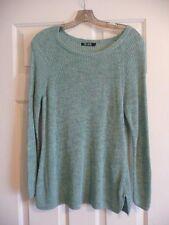 Nic & Zoe Sea Green Lightweight Linen Sweater S. XL