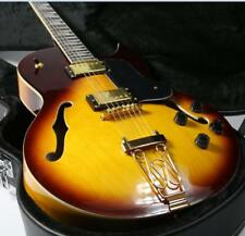 2018 Top Quality Byrdland JAZZ Hollow Body Electric Guitar Sunburst Gold Hardwar