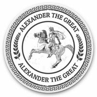 2 x Vinyl Stickers 10cm (bw) - Alexander The Great King Greek  #40114