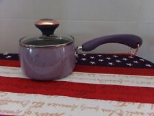 "PAULA DEEN 1 QT COVERED SAUCEPAN~ ""PURPLE"" SPECKLE~NON-STICK~NEW"