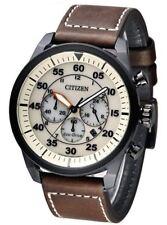 Relojes de pulsera Citizen Chrono de cuero