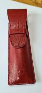 Montblanc Two Pen Red Leather Pouch - Pristine Case