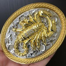 New Scorpion Belt Buckle Western 3D Cowboy SILVER GOLD HIGH QUALITY Cowboy Men