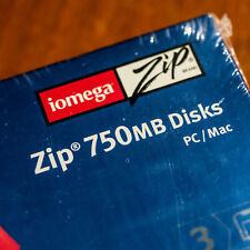 Iomega Zip Disk 750MB (3 pieces) factory sealed