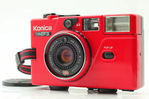 [Near MINT RED] Konica C35 EF3 Point & Shoot 35mm Film Camera From JAPAN