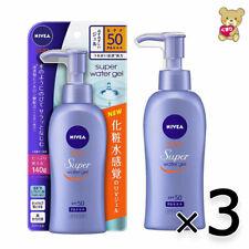 ☀[3pack set]Nivea Sun Protect Water Gel SPF 50/PA +++ Pump 140g Import Japan F/S