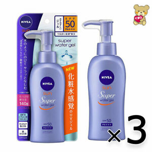 ☀[3pack set]Nivea Sun Protect Water Gel SPF 50/PA +++ Pump 140g Import Japan F/S