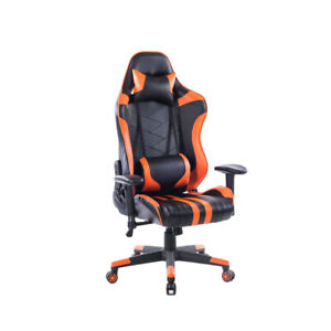 Gaming Home Chair Office Adjustable Comfortable Racing Orange Black Chair