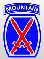10th Mountain Division Vinyl Window Sticker Decal - Color