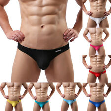 New Men's Low-rise Bulge Pouch Thong T-back G-string Bikini Underwear Underpants