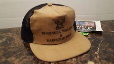 Vintage Bushnell  Illinois Made USA Men's snapback trucker hat cap corduroy MESH