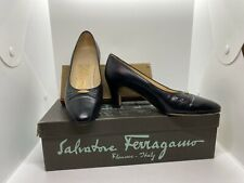 New listing Vintage Salvatore Ferragamo Womens Dress Shoes Made in Italy Sz 4B Black & Gold