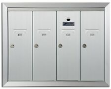 Silver Metal Cluster Apartment Commercial Recessed Locking Mailbox Mail Box Door