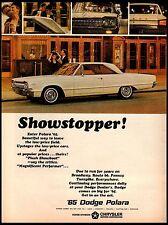 1965 Dodge Polara Showstopper White 2 door Vintage Print Ad