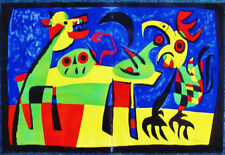 MIRO - DOG HOWLING AT THE MOON - VERVE LITHOGRAPH 1953  - FREE SHIP IN US !!!