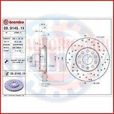 BREMBO 09.9145.1X 2X COPPIA DISCHI FRENO XTRA per AUDI A3 (8P1)