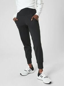 ATHLETA L Tall Venice Jogger Large Tall 12 14 |  Black Workout Pants NWT