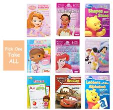 Kindergarten PreSchool Workbooks For Kids Alphabet Phonic Disney Shapes Reading