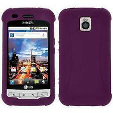 AMZER Silicone Skin Jelly Case Cover for LG Optimus C LW690/M MS690 - Purple