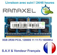 RAMAXEL 8GB 8GO 2Rx8 PC3L 12800S DDR3 1600MHZ 204PIN SO-DIMM RAM PC Portable