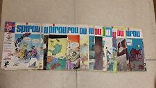 Lot de 36 magazines Spirou année 1974/1975 N° 1891 à 1927
