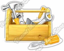 "Tool Box Construction Builder Build Repair Car Bumper Vinyl Sticker Decal 5""X4"""