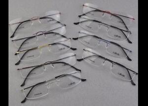 76130 Silhouette Ultralight Titanium Elasticit Rimless Glasses Eyeglasses Frame