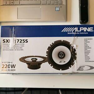 """Alpine SXE-17725S 6.5"""" 17cm Coaxial Speakers, 220 Watts."""