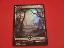 MTG MAGIC AMONKHET FULL ART SWAMP (ENGLISH MARAIS) NM FOIL