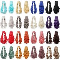 Cosplay Fancy Dress Lace Front Wig Long Wavy Heat Resistant Hair Party Costume