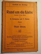 Operette - Bodanzky / Thelen - Rund um die Liebe - Oscar Straus - 1914