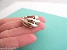 Tiffany & Co Sterling Silver 18K Gold Shrimp Twist Ring Band Sz 5.75 Rare