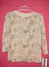 ALLYSON WHITMORE BROWN JERSEY KNIT TOP                        SMALL